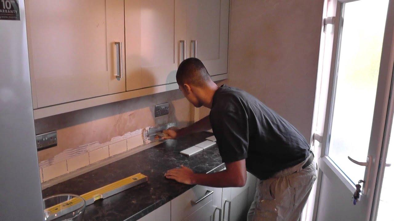 DIY: How To Tile a Kitchen Splashback - Part 1 - YouTube