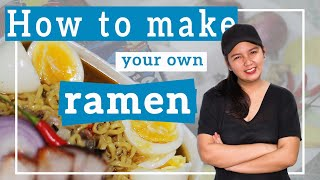 How to make your own RAMEN (Pancit Canton with Beef Flavored noodles)