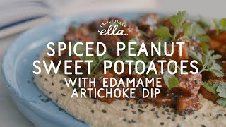 Spiced Peanut Sweet Potatoes & Edamame Dip | Vegan | Deliciously Ella