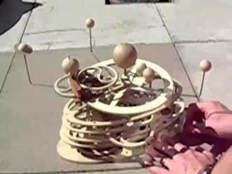 model of our solar system,Wooden orrery prototype