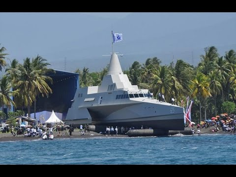 Indonesia launched the stealth patrol vessels