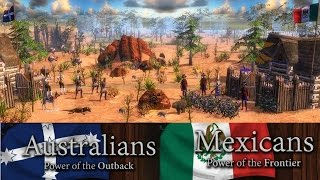 Age of Empires 3 Wars of Liberty México vs Australians in Australia map Online multiplayer