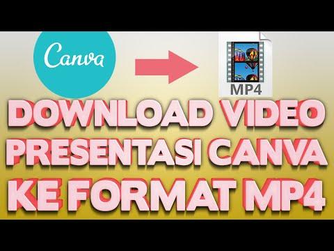 Cara Download Video Presentasi dan Narasi Di Canva Ke Format mp4