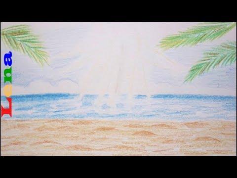 Sommer Sonne Meer Malen Sand Strand Zeichnen How To Draw