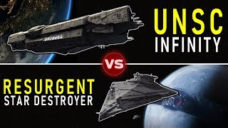 UNSC Infinity vs. Resurgent Star Destroyer -- Who Would Win? |  (Rematch) | Halo vs Star Wars
