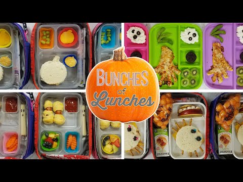 Halloween School Lunch Ideas || Bunches of Lunches Week 4 🎃