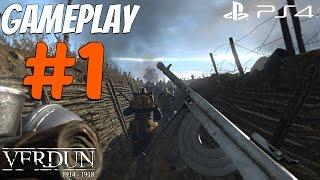 Verdun (PS4) - Gameplay Walkthrough Part 1 - World War 1 Multiplayer [1080P 60FPS]