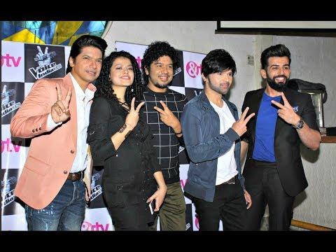 The Voice India Kids Season 2 Launch - Shaan, Himesh Reshamiya, Palak Muchhal, Papon