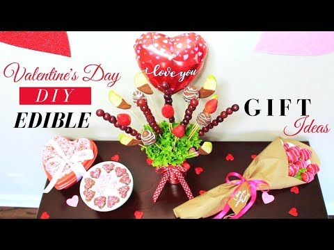 VALENTINE'S DAY DIY EDIBLE GIFT IDEAS | DIY EDIBLE ARRANGEMENTS