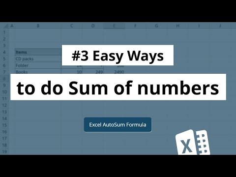Sum Formula In Excel | Autosum In Excel
