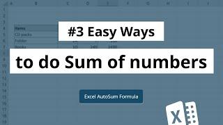 Sum formula in Excel   Autosum in Excel   Excel in Hindi