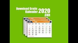 Gambar cover Free Download Kalender 2020 Format Corel Draw