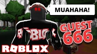 I SAW GUEST 666 ON ROBLOX?!