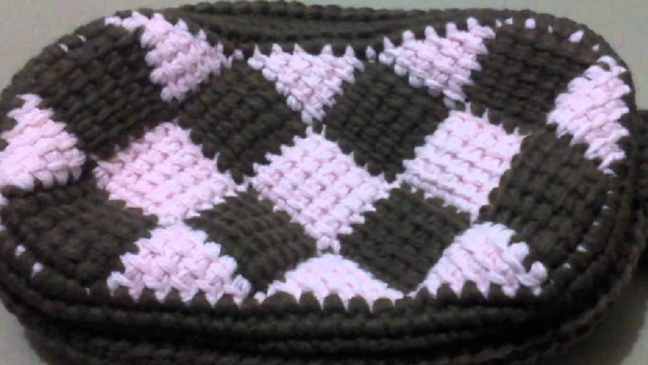 Entrelac Crochet Handbag/purse/pouch pattern - YouTube