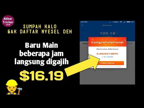 WAJIB DI HAJAR Aplikasi penghasil uang dan Bitcoin tercepat #AKBARTRICKER