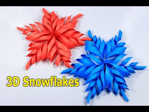 3D Paper Snowflake Tutorial | How to make 3d snowflakes | Christmas decorations ideas
