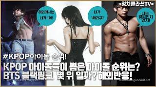 KPOP 아이돌들이 뽑은 아이돌 순위는? BTS 블랙핑크  몇 위 일까? 해외반응!