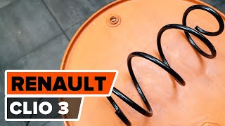 Montage Ressort d'amortisseur RENAULT CLIO III (BR0/1, CR0/1) : vidéo gratuit