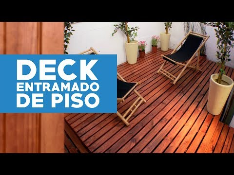 C mo construir un deck o entramado de piso youtube - Construir altillo madera ...