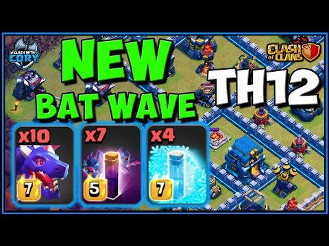 *NEW META* BAT WAVE TH12 ATTACK | CLASH OF CLANS | TOWN HALL 12 DRAG BAT