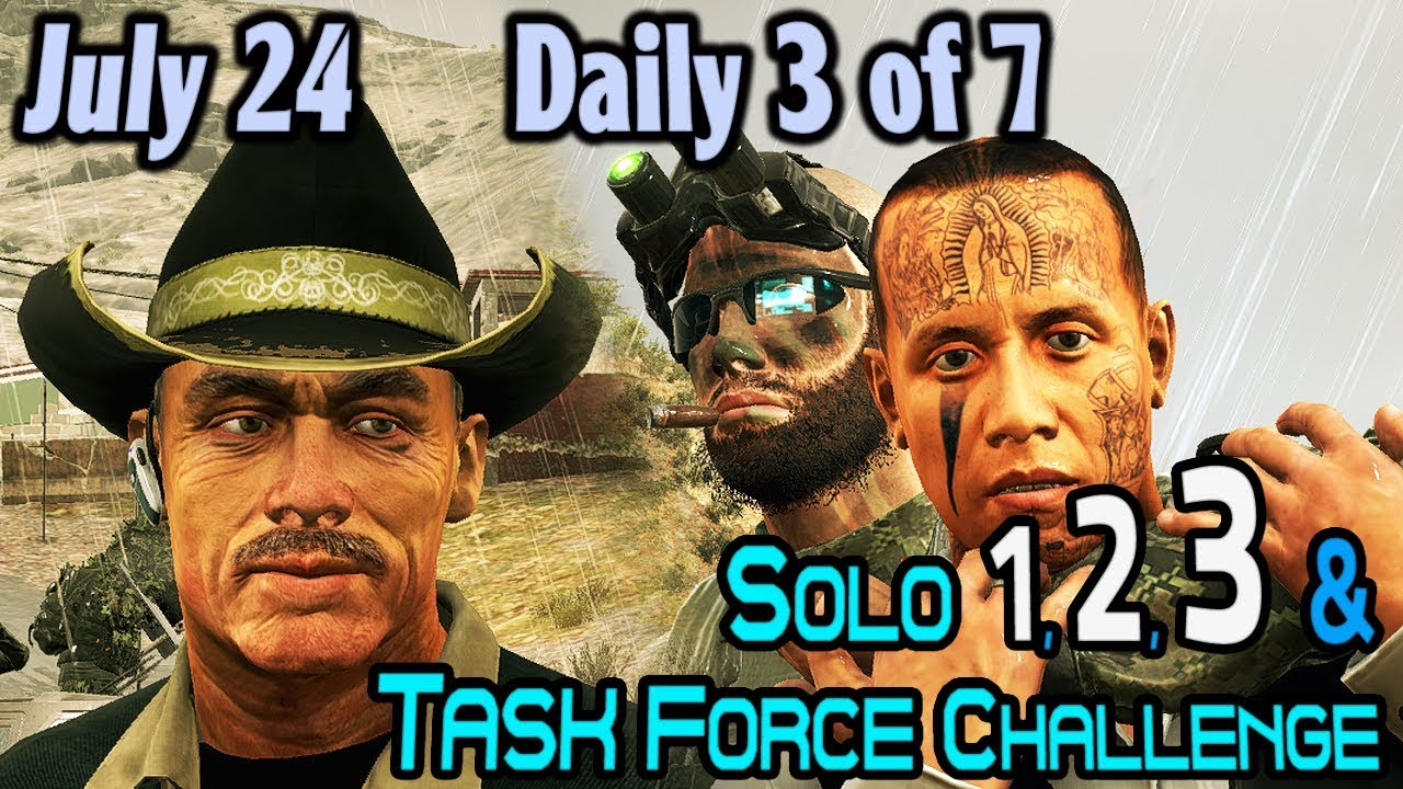 Download Solo 1-3 & Task Force Challenges :: July 24 : Daily 3 of 7
