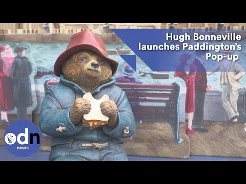 Hugh Bonneville launches Paddington's Pop-up London