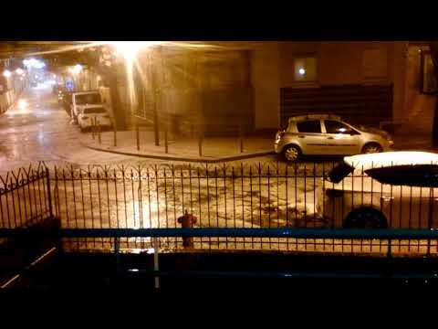 Déluge de grêle sur Draguignan
