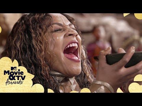 Tiffany Haddish Challenges Prince T'Challa For The Throne | 2018 MTV Movie & TV Awards