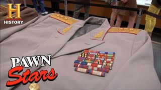 Pawn Stars: MILLION DOLLAR Soviet Union Cold War Uniforms (Season 8) | History