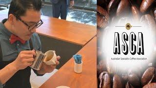 2015 Australian Latte Art Champion Caleb Cha