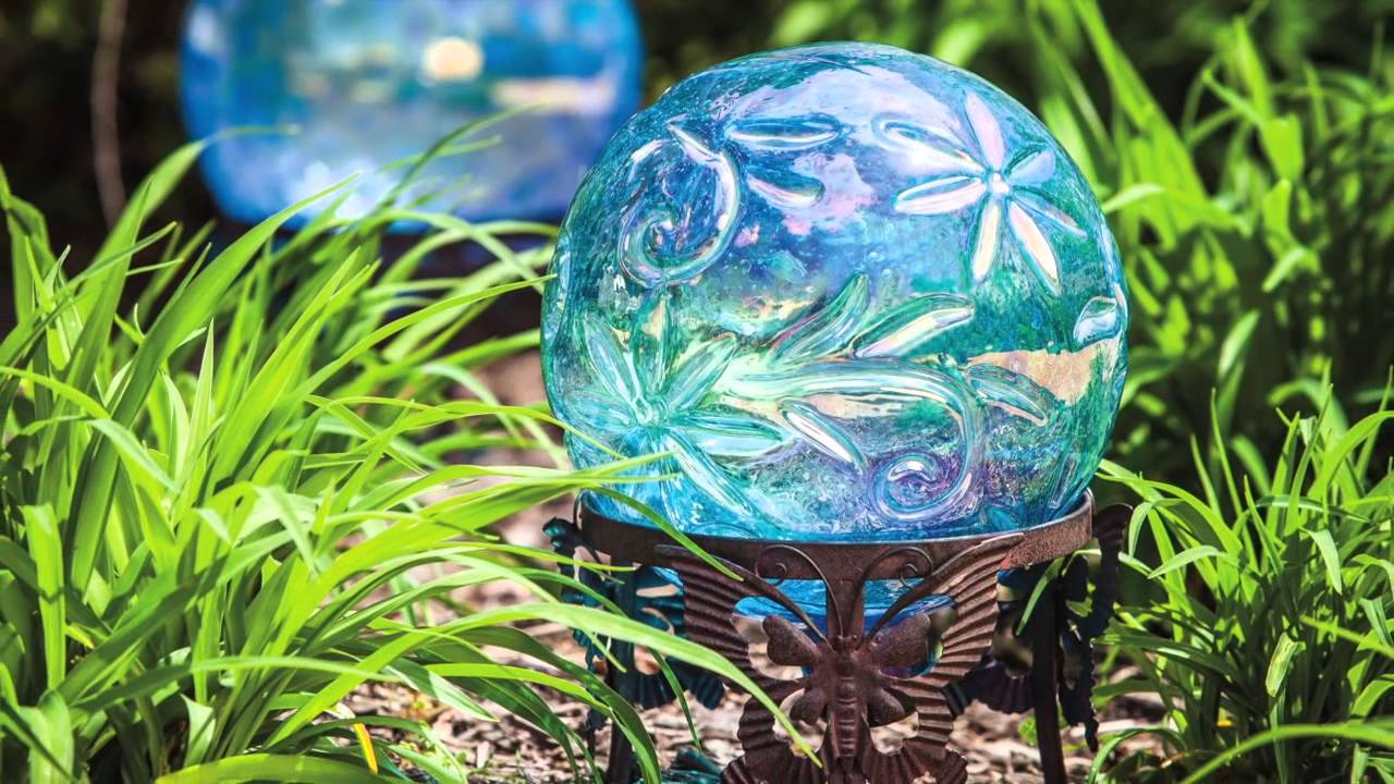 Gazing Balls Garden Decor by Evergreen - YouTube