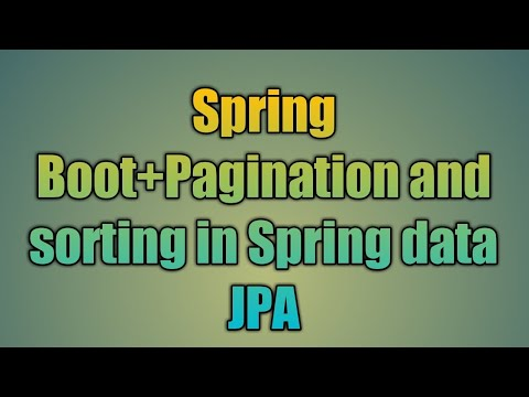 30 Pagination and sorting in Spring data JPA