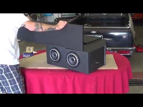EL CAMINO CAR AUDIO - LINE X CUSTOM SUB ENCLOSURE FOR JLAUDIO W7 INSTALL IN DASH SPEAKERS IN G BODY