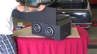 EL CAMINO CAR AUDIO - LINE X CUSTOM SUB ENCLOSURE FOR JLAUDIO W7 INSTALL IN DASH SPEAKERS IN G BODY thumbnail