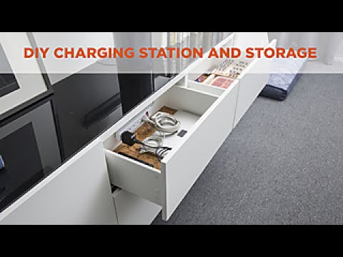 charging station and storage diy network youtube