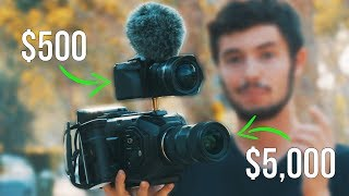 Video $500 Camera vs $5,000 Camera (Blackmagic Ursa Mini 4.6k vs. Panasonic G7) download MP3, 3GP, MP4, WEBM, AVI, FLV Juli 2018