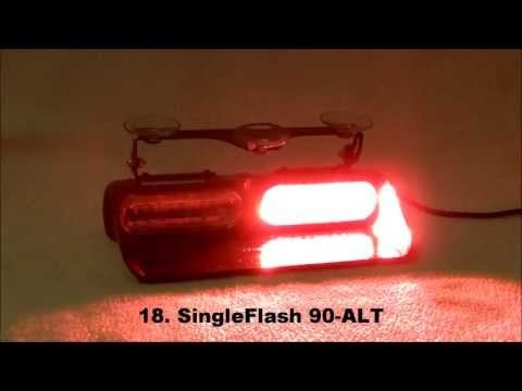 Whelen Dual Avenger (Red/Blue) AVN2RB Flash Patterns
