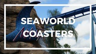 ALL SEAWORLD ORLANDO ROLLER COASTERS POV