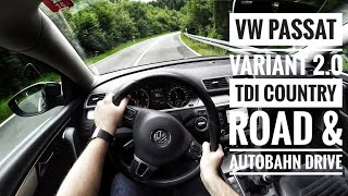VW Passat Variant 2.0 TDI (2014) - POV Country Road and Autobahn Drive