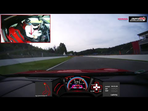 Honda Civic Type R achieves fastest lap record at Spa-Francorchamps - official onboard VBOX footage