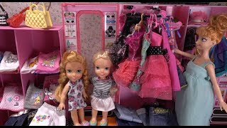 Elsa and Anna toddlers at Barbie's boutique- new dresses, accessories and customized clothes thumbnail