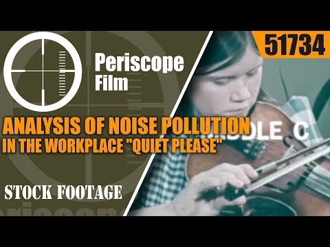 """ANALYSIS OF NOISE POLLUTION IN THE WORKPLACE   """"QUIET PLEASE""""  51734"""