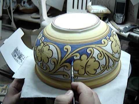 decorazione della ceramica youtube