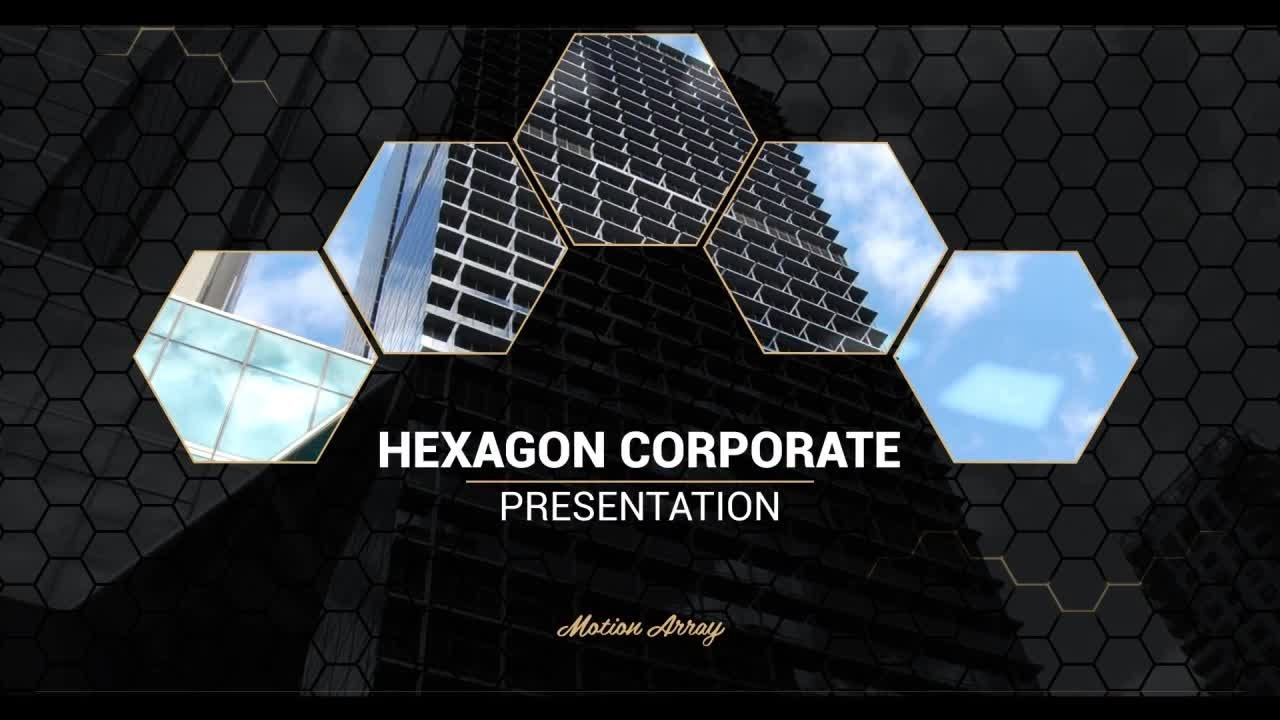 hexagon corporate presentation after effects templates - youtube, Presentation templates