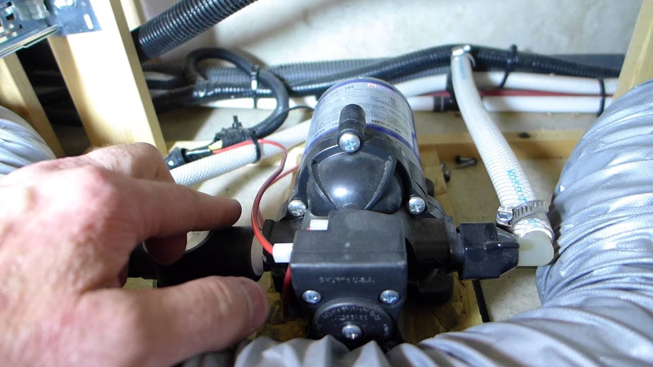 shurflo water pump wiring diagram two way switch uk revolution 4008 install youtube