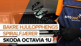 Skifte Opphengingsfjær foran venstre høyre SKODA OCTAVIA (1U2) - videoopplæring