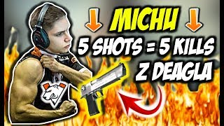 MICHU 5 SHOTS 5 KILLS DWA ACE Z RZĘDU VIRTUS PRO VS CHAOS CSGO BEST MOMENTS