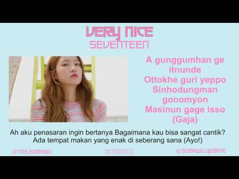 SEVENTEEN - VERY NICE [MV, EASY LYRIC, LIRIK INDONESIA]