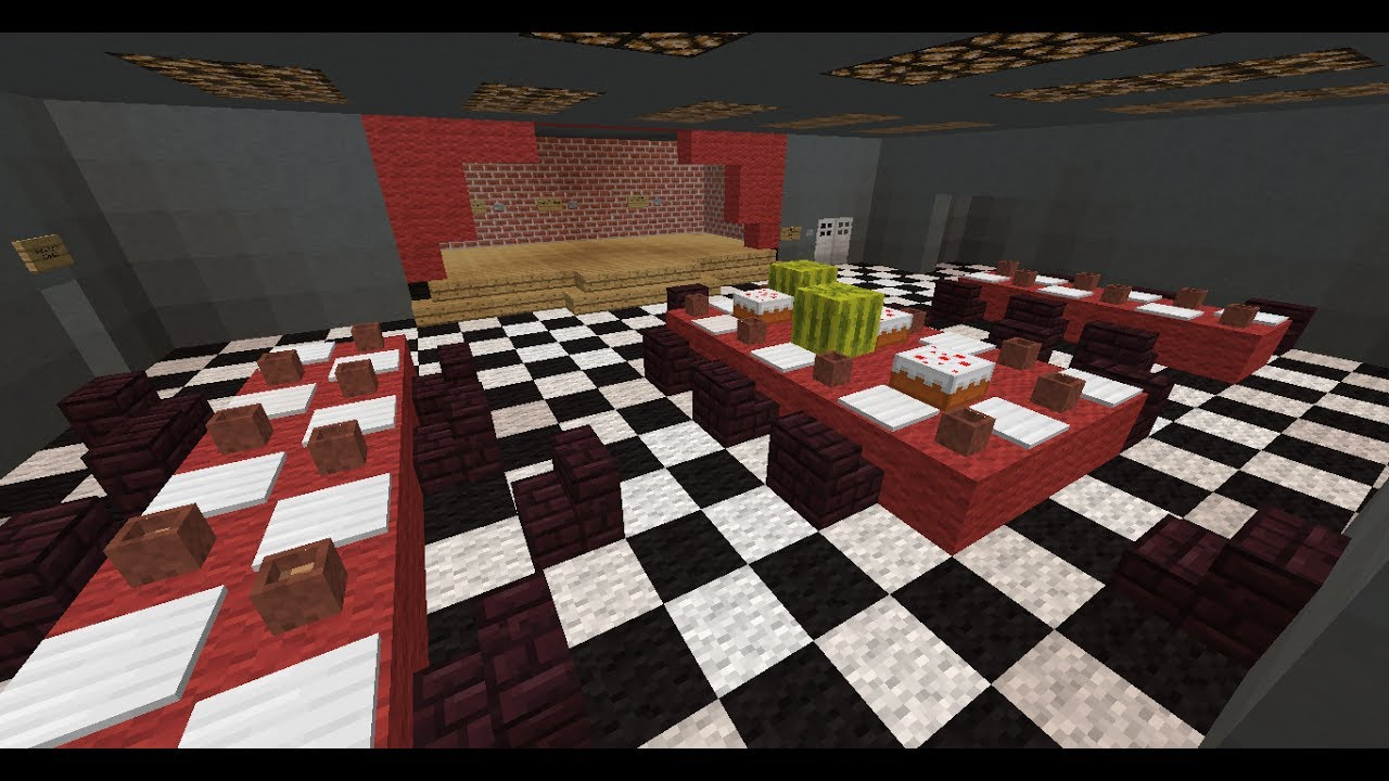 Minecraft 1.8   Five Night's at Freddy's Map Review