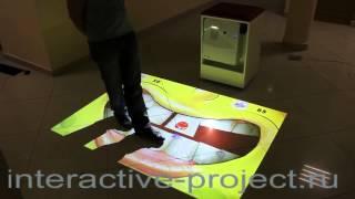 видео Интерактивный пол для магазинов